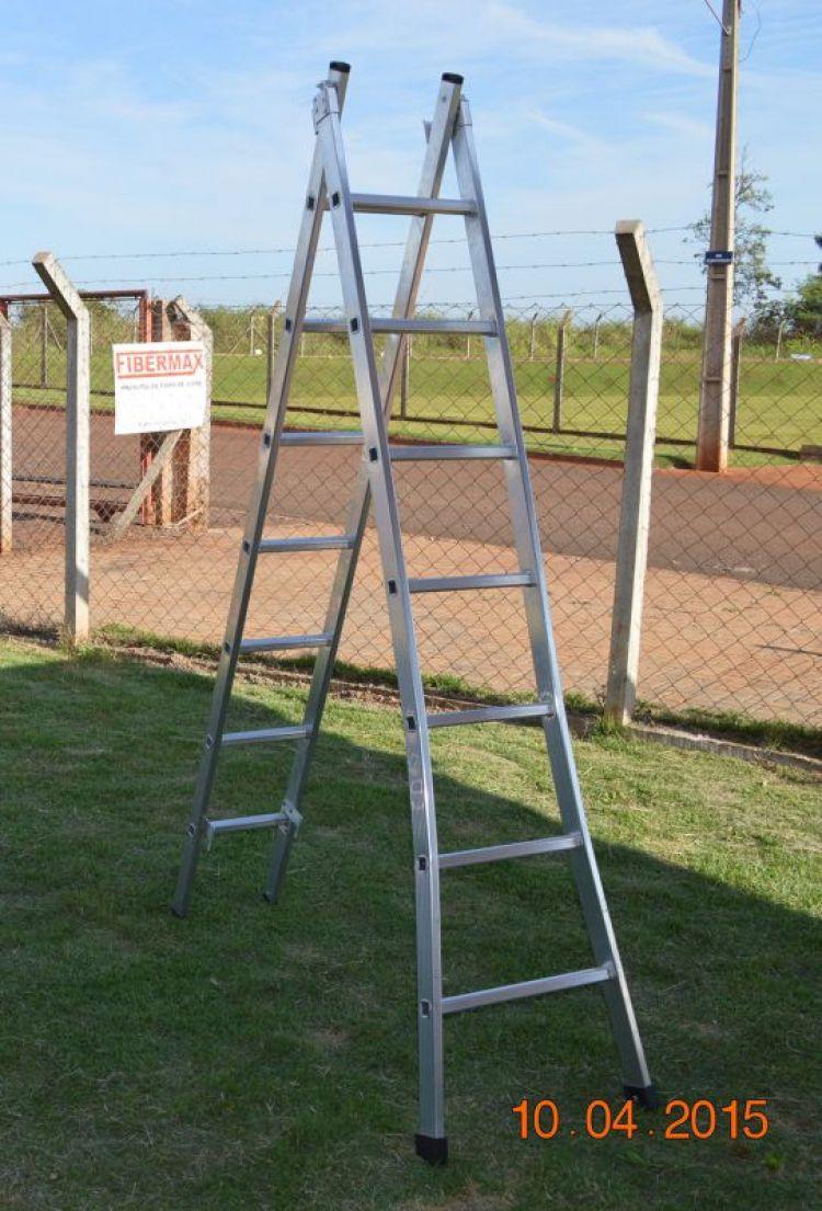 Escada Extensiva Aluminio 2.40 x 3.90