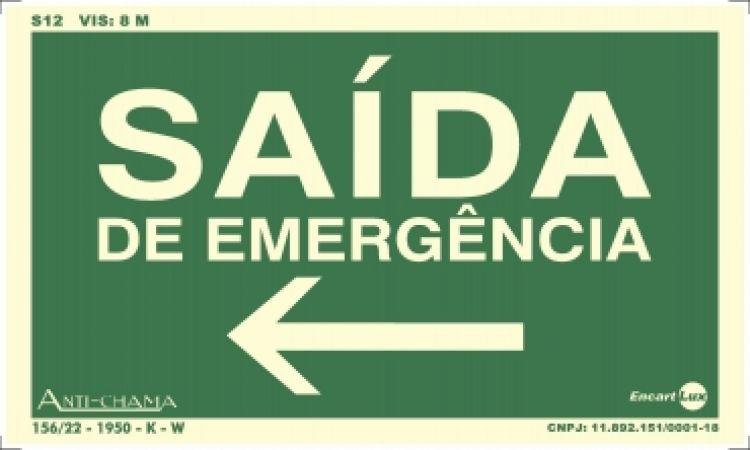 Saida de emergencia seta para esquerda
