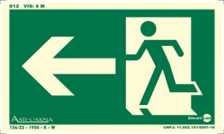 Rota de fuga saida para esquerda
