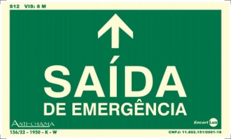 Saida de emergencia seta para cima