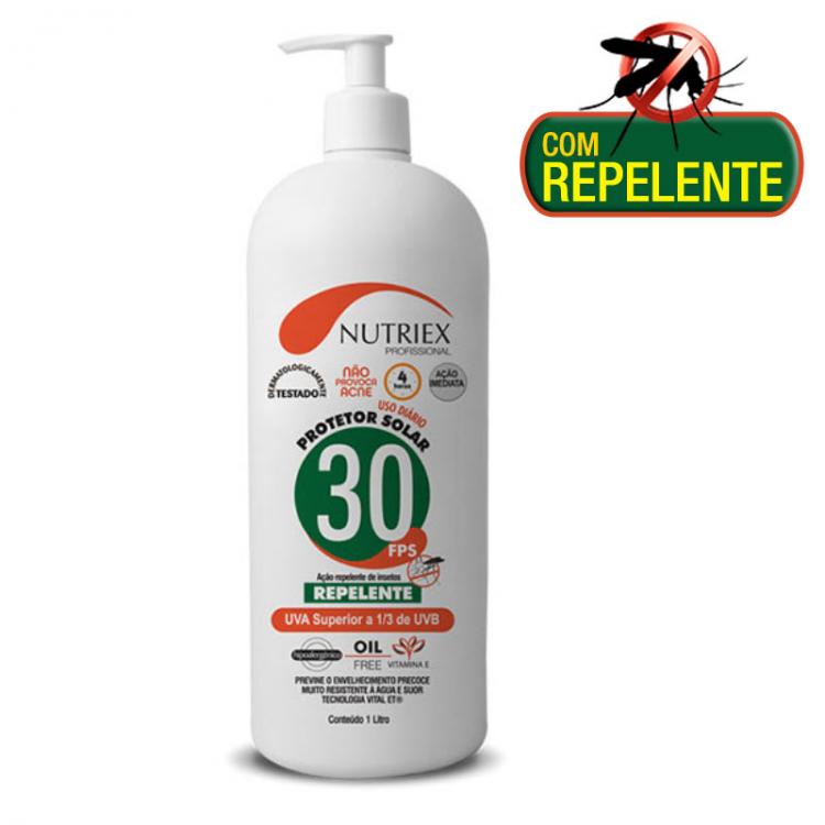 Protetor Solar 30 FPS com Repelente 1 Litro Nutriex